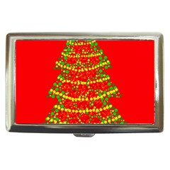 Sparkling Christmas tree - red Cigarette Money Cases by Valentinaart