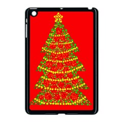 Sparkling Christmas Tree   Red Apple Ipad Mini Case (black) by Valentinaart