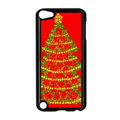 Sparkling Christmas Tree   Red Apple Ipod Touch 5 Case (black) by Valentinaart