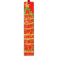 Sparkling Christmas Tree   Red Large Book Marks by Valentinaart