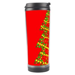 Sparkling Christmas Tree   Red Travel Tumbler by Valentinaart
