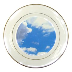 Summer Clouds And Blue Sky Porcelain Plates by picsaspassion