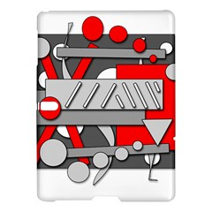 Gray And Red Geometrical Design Samsung Galaxy Tab S (10 5 ) Hardshell Case  by Valentinaart