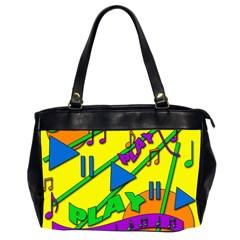 Music Office Handbags (2 Sides)  by Valentinaart