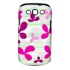 Magenta floral pattern Samsung Galaxy S III Classic Hardshell Case (PC+Silicone) by Valentinaart