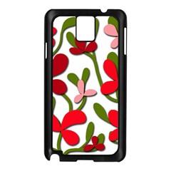 Floral Tree Samsung Galaxy Note 3 N9005 Case (black) by Valentinaart