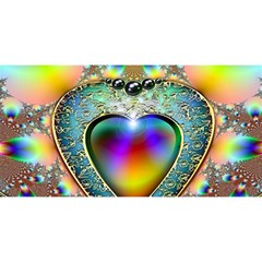 Rainbow Fractal YOU ARE INVITED 3D Greeting Card (8x4) by Zeze