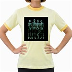 Adventure Time Cover Women s Fitted Ringer T-Shirts