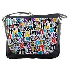 Alpha Pattern Messenger Bags by AnjaniArt