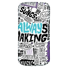 Always Making Pattern Samsung Galaxy S3 S Iii Classic Hardshell Back Case by AnjaniArt