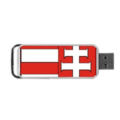 Medieval Coat Of Arms Of Hungary  Portable Usb Flash (one Side) by abbeyz71