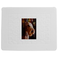 Airedale Terrier Jigsaw Puzzle Photo Stand (Rectangular) by TailWags
