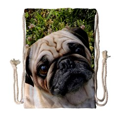 Pug Fawn Drawstring Bag (Large) by TailWags