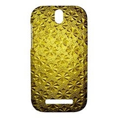 Patterns Gold Textures HTC One SV Hardshell Case by Zeze