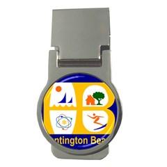 Flag of Huntington Beach, California Money Clips (Round)  by abbeyz71