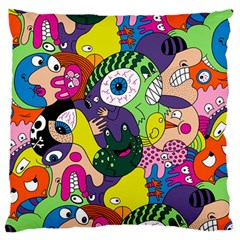 Another Weird Pattern Large Flano Cushion Case (two Sides) by AnjaniArt