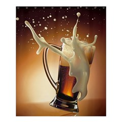 Beer Wallpaper Shower Curtain 60  X 72  (medium)  by AnjaniArt