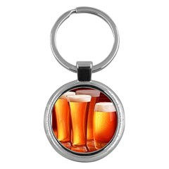 Beer Wallpaper Wide Key Chains (round)  by AnjaniArt