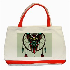 Bird Classic Tote Bag (Red) by AnjaniArt