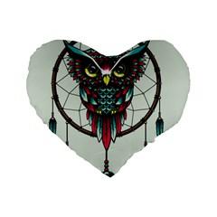Bird Standard 16  Premium Flano Heart Shape Cushions by AnjaniArt