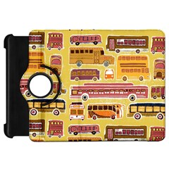 Bus Cartoons Logo Kindle Fire Hd Flip 360 Case by AnjaniArt
