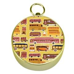 Bus Cartoons Logo Gold Compasses by AnjaniArt