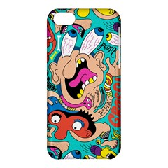 Cartoons Funny Face Patten Apple Iphone 5c Hardshell Case by AnjaniArt