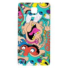 Cartoons Funny Face Patten Galaxy Note 4 Back Case by AnjaniArt