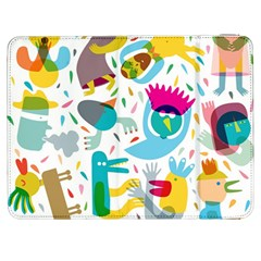 Colorful Cartoon Funny People Samsung Galaxy Tab 7  P1000 Flip Case by AnjaniArt