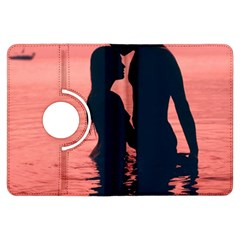 Couple In Love Beach Kindle Fire Hdx Flip 360 Case by AnjaniArt