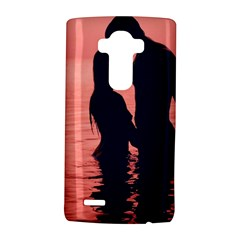 Couple In Love Beach LG G4 Hardshell Case by AnjaniArt