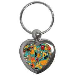 Creature Cluster Key Chains (heart)  by AnjaniArt