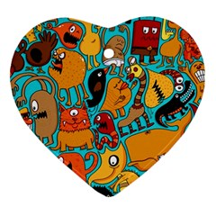 Creature Cluster Heart Ornament (2 Sides) by AnjaniArt