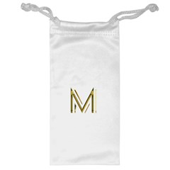M Monogram Initial Letter M Golden Chic Stylish Typography Gold Jewelry Bags by yoursparklingshop