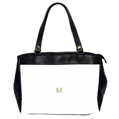 M Monogram Initial Letter M Golden Chic Stylish Typography Gold Office Handbags (2 Sides)  by yoursparklingshop