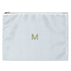 M Monogram Initial Letter M Golden Chic Stylish Typography Gold Cosmetic Bag (xxl)  by yoursparklingshop