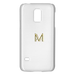 M Monogram Initial Letter M Golden Chic Stylish Typography Gold Galaxy S5 Mini by yoursparklingshop