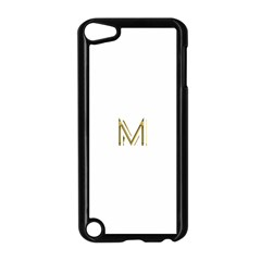 M Monogram Initial Letter M Golden Chic Stylish Typography Gold Apple Ipod Touch 5 Case (black) by yoursparklingshop