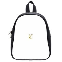 Monogrammed Monogram Initial Letter K Gold Chic Stylish Elegant Typography School Bags (small)  by yoursparklingshop