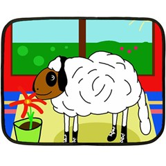 Urban Sheep Double Sided Fleece Blanket (mini)  by Valentinaart