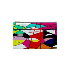 Abstract Waves Cosmetic Bag (small)  by Valentinaart