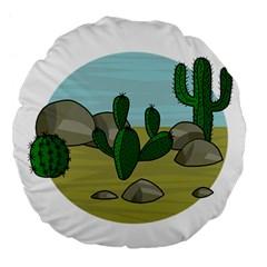 Desert Large 18  Premium Flano Round Cushions by Valentinaart