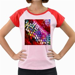 Multicolor Wall Mosaic Women s Cap Sleeve T-Shirt by Zeze