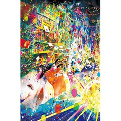 Multicolor Anime Colors Colorful 5.5  x 8.5  Notebooks by Zeze