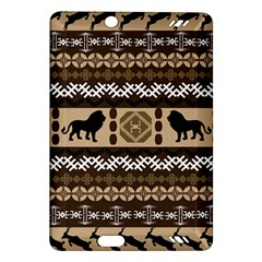 Lion African Vector Pattern Amazon Kindle Fire HD (2013) Hardshell Case by Zeze