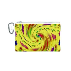 Leaf And Rainbows In The Wind Canvas Cosmetic Bag (s) by pepitasart