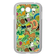 D Pattern Samsung Galaxy Grand Duos I9082 Case (white) by AnjaniArt