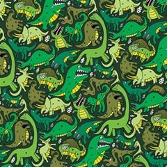 Dino Pattern Cartoons Magic Photo Cubes by AnjaniArt