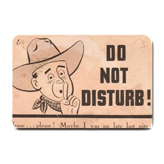 Do Not Disturb I Want To Sleep Thanks Small Doormat  by AnjaniArt