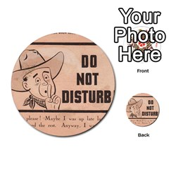 Do Not Disturb I Want To Sleep Thanks Multi-purpose Cards (Round)  by AnjaniArt